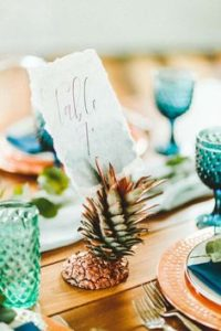 Marque place mariage tropical