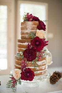 Wedding cake natruelle bordeaux