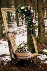 coin photo mariage hiver