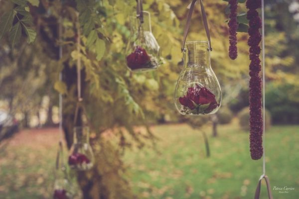 Coin photo mariage automne